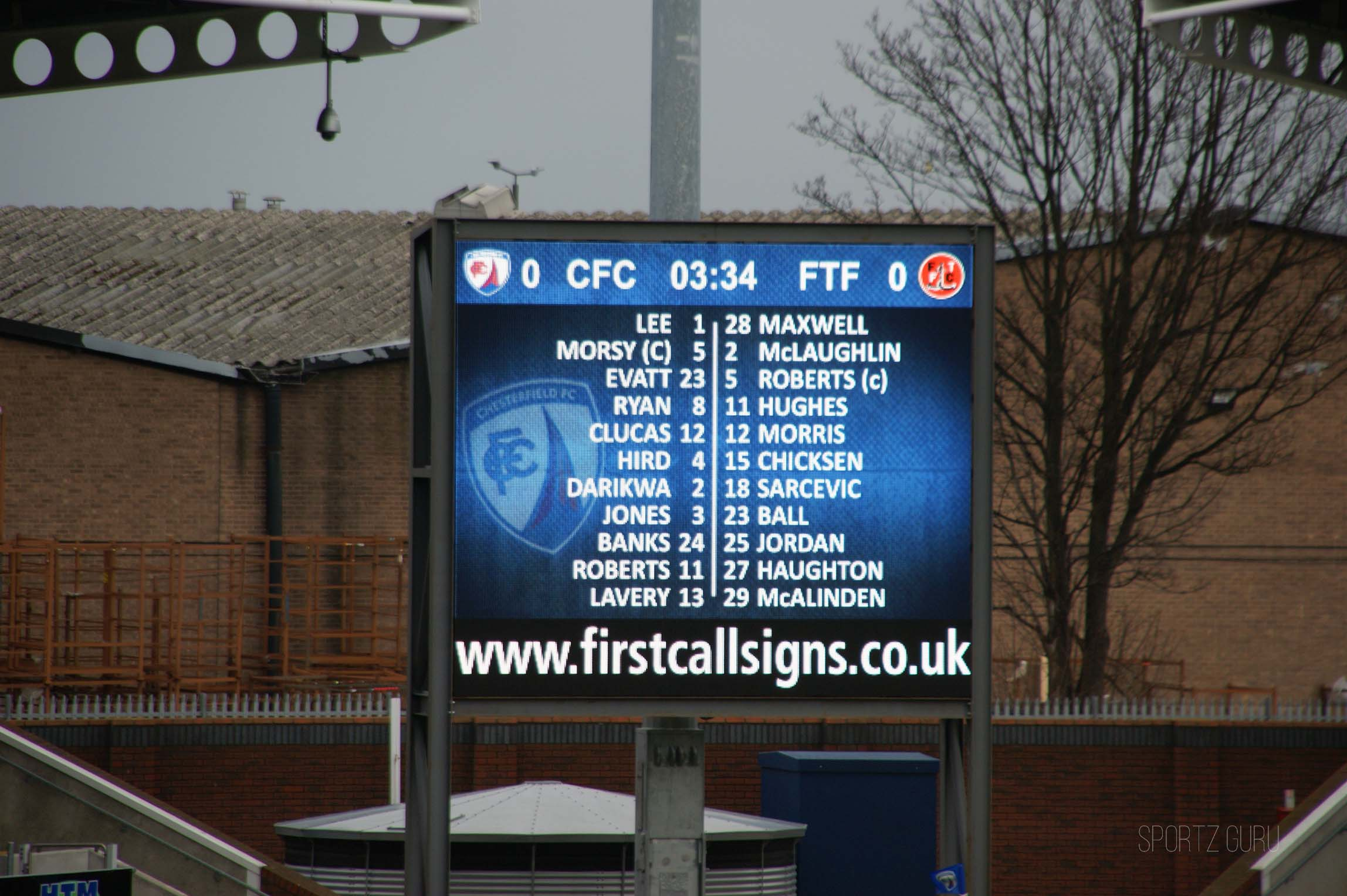 Chesterfield FC Review Sport Hospitality Ticket